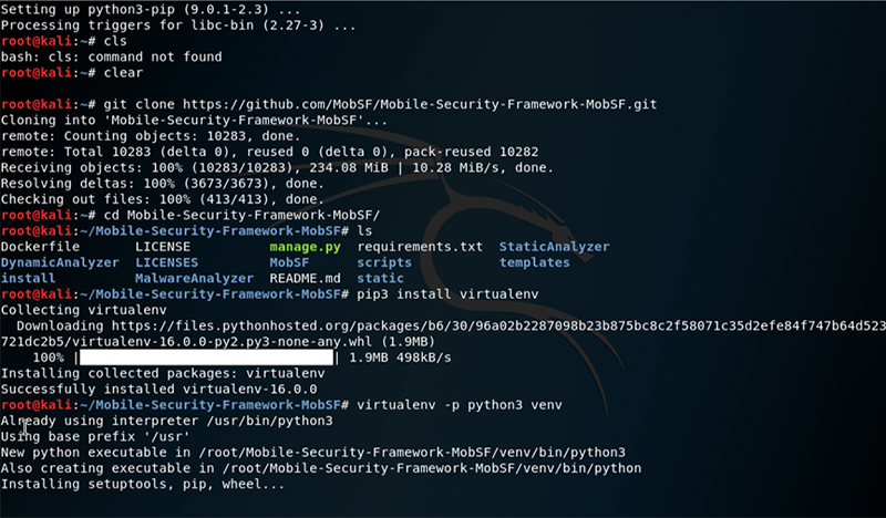 MobSF on Kali Linux - step 5