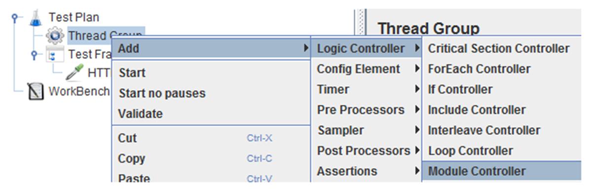 create a module controller