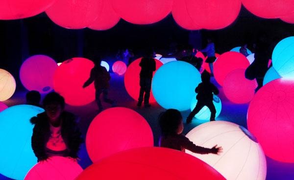ArtScience Museum - Light ball orchestra