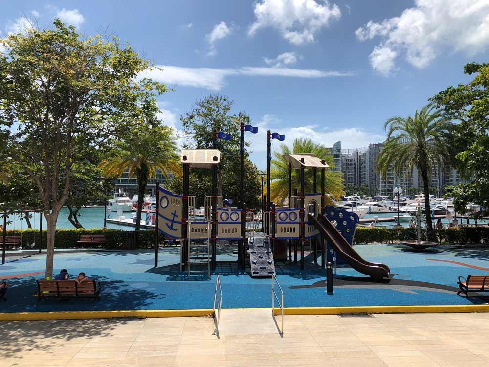 Pirate themed playground at Sentosa Cove Village