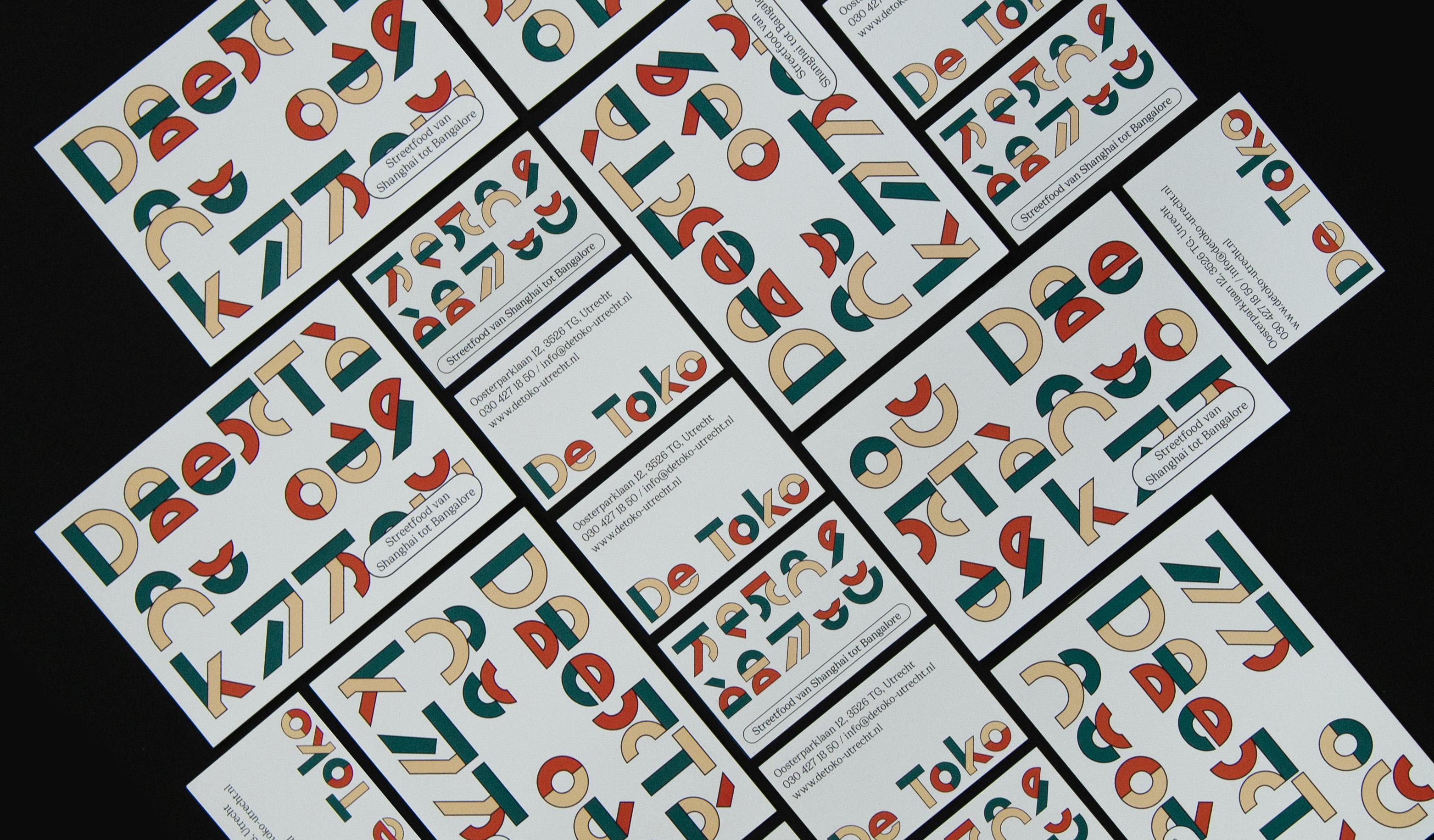 een verzameling van ontwerpen voor de branding van De Toko