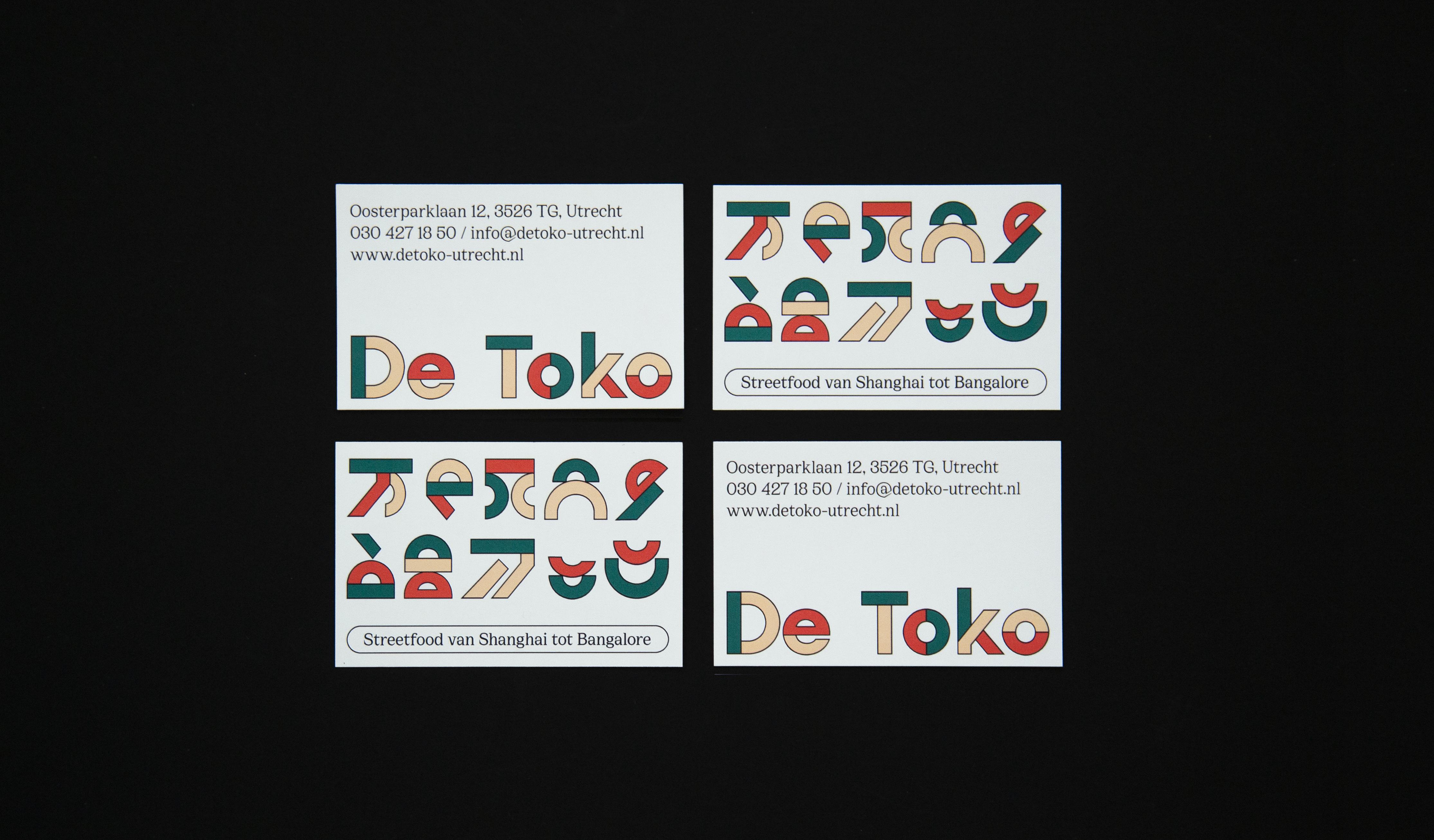 visitekaartjes ontworpen voor een restaurant