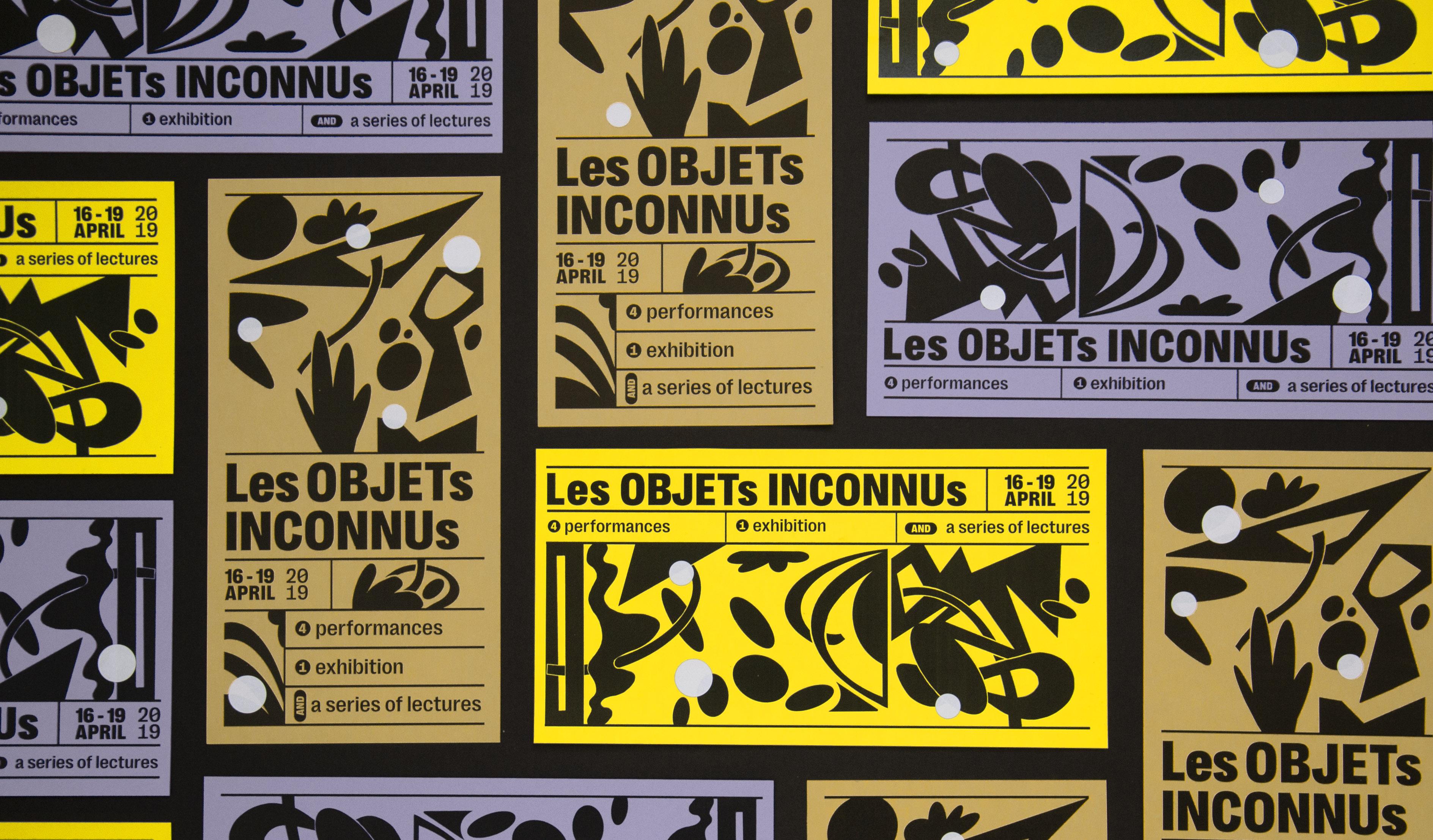 flyers ontworpen voor een tentoonsteling