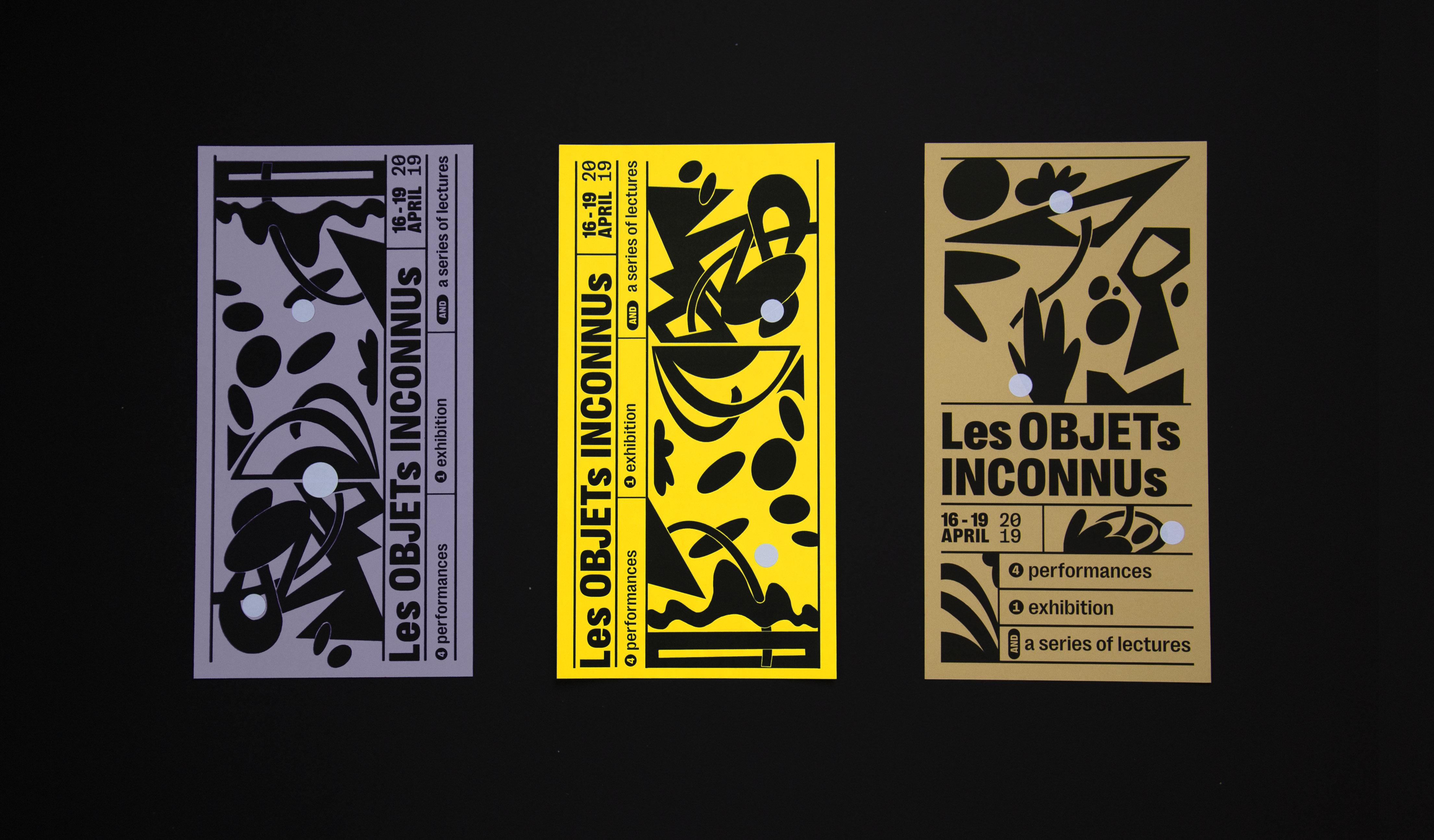 flyers ontworpen voor een tentoonstelling
