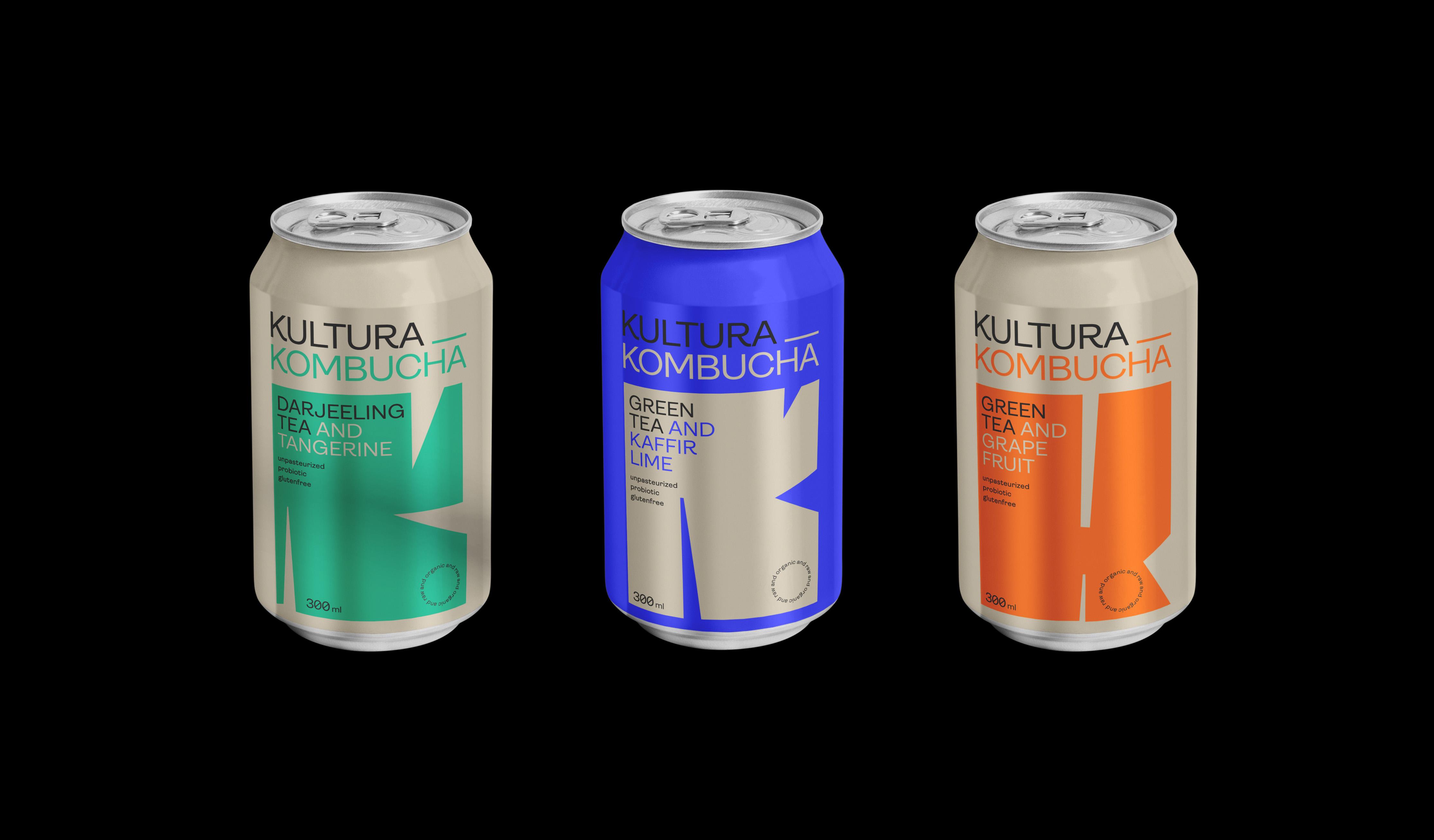 packaging design voor een kombucha merk