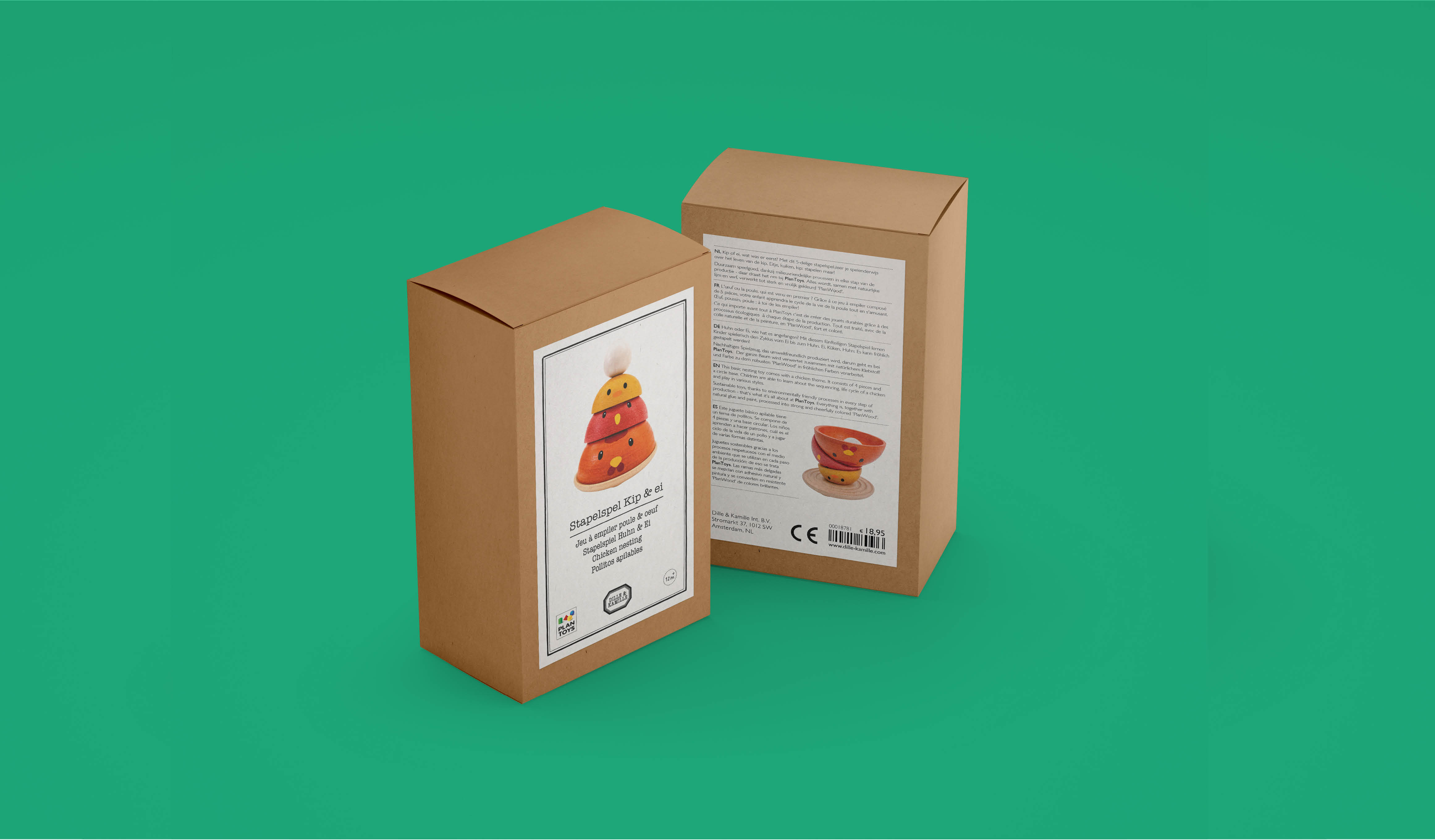 packaging design voor Dille & Kamille