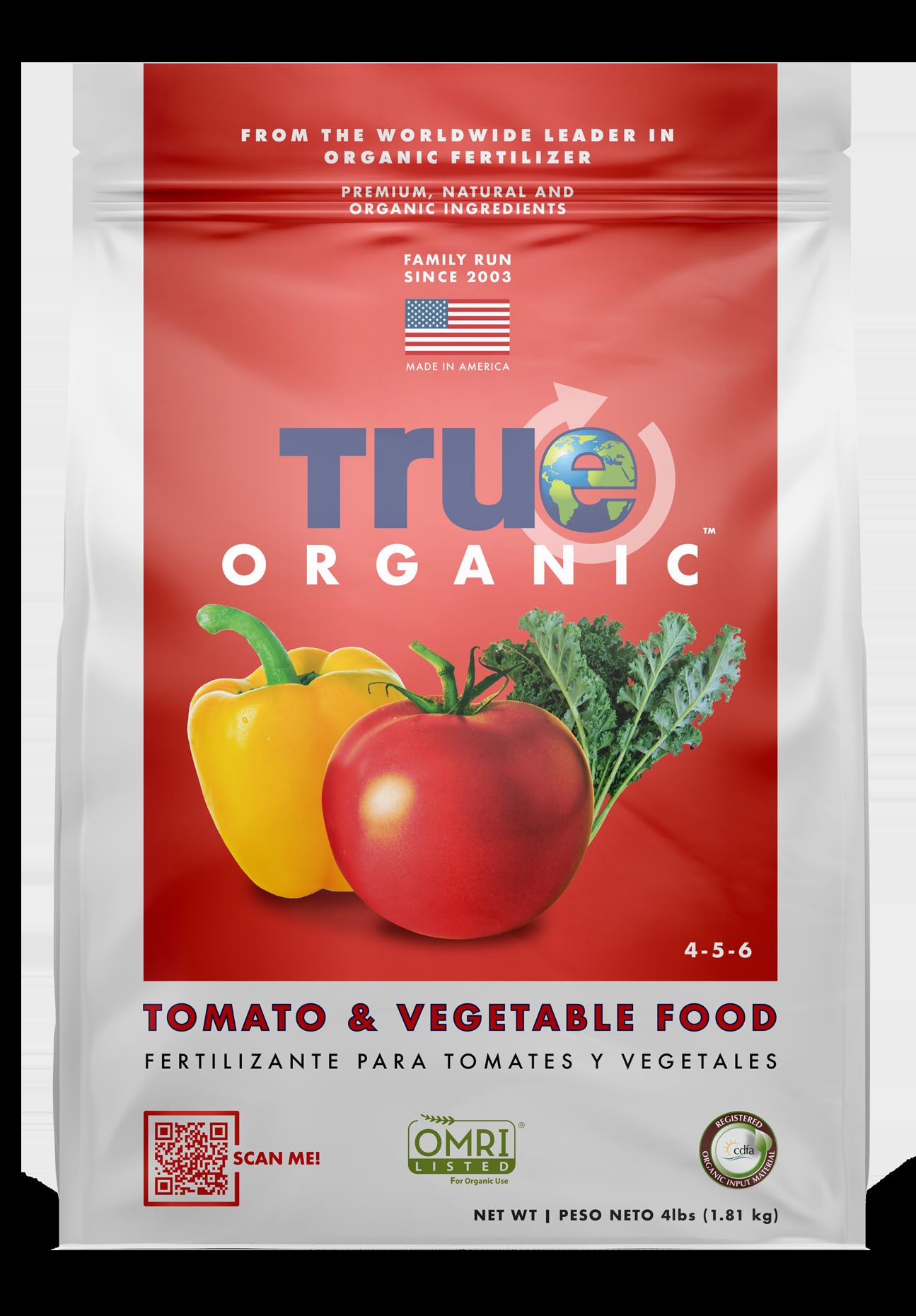 4 Lb Bag Of True Organic Tomato & Vegetable Food