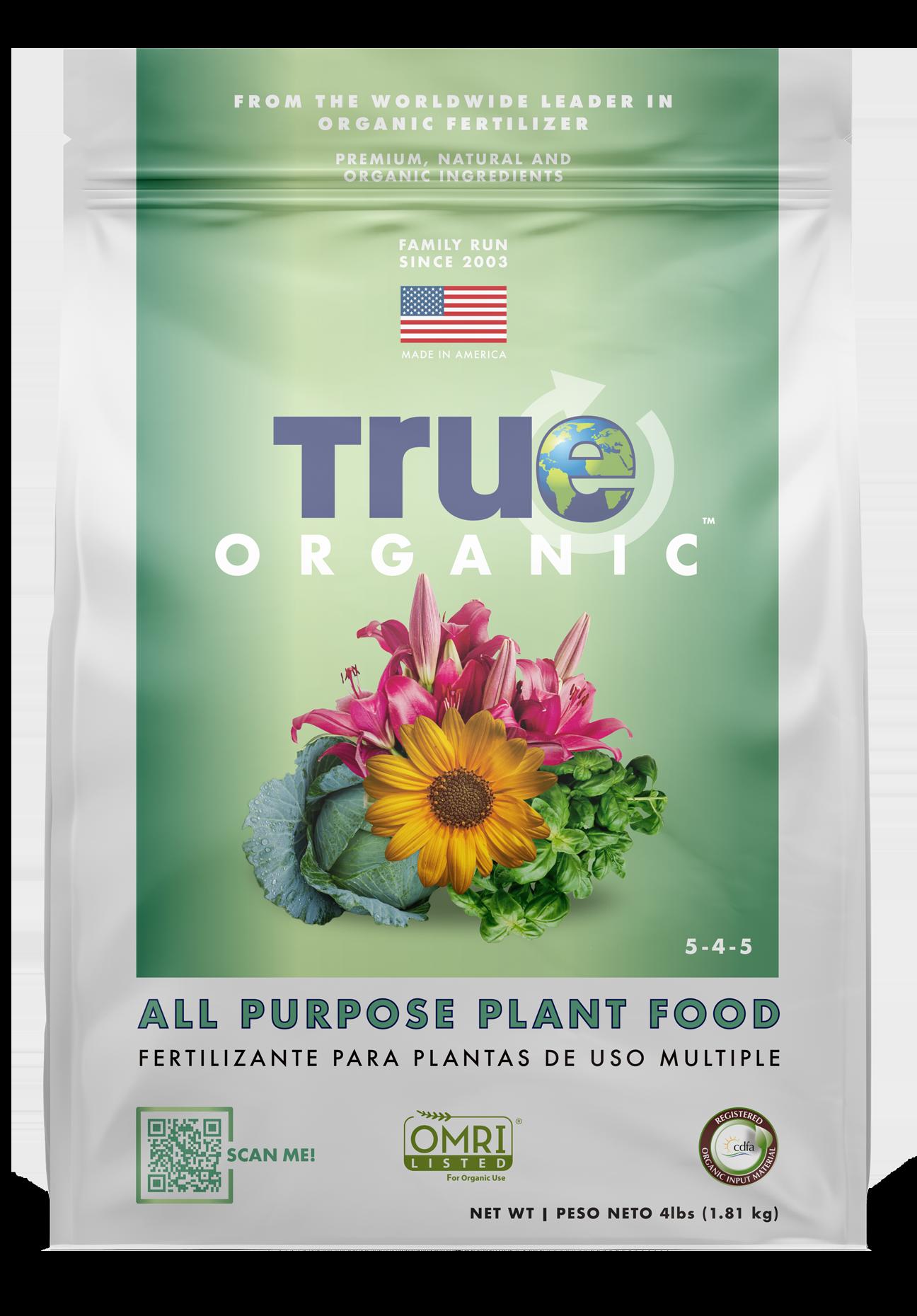 4LB Bag Of True Organic All Purpose Plant Food