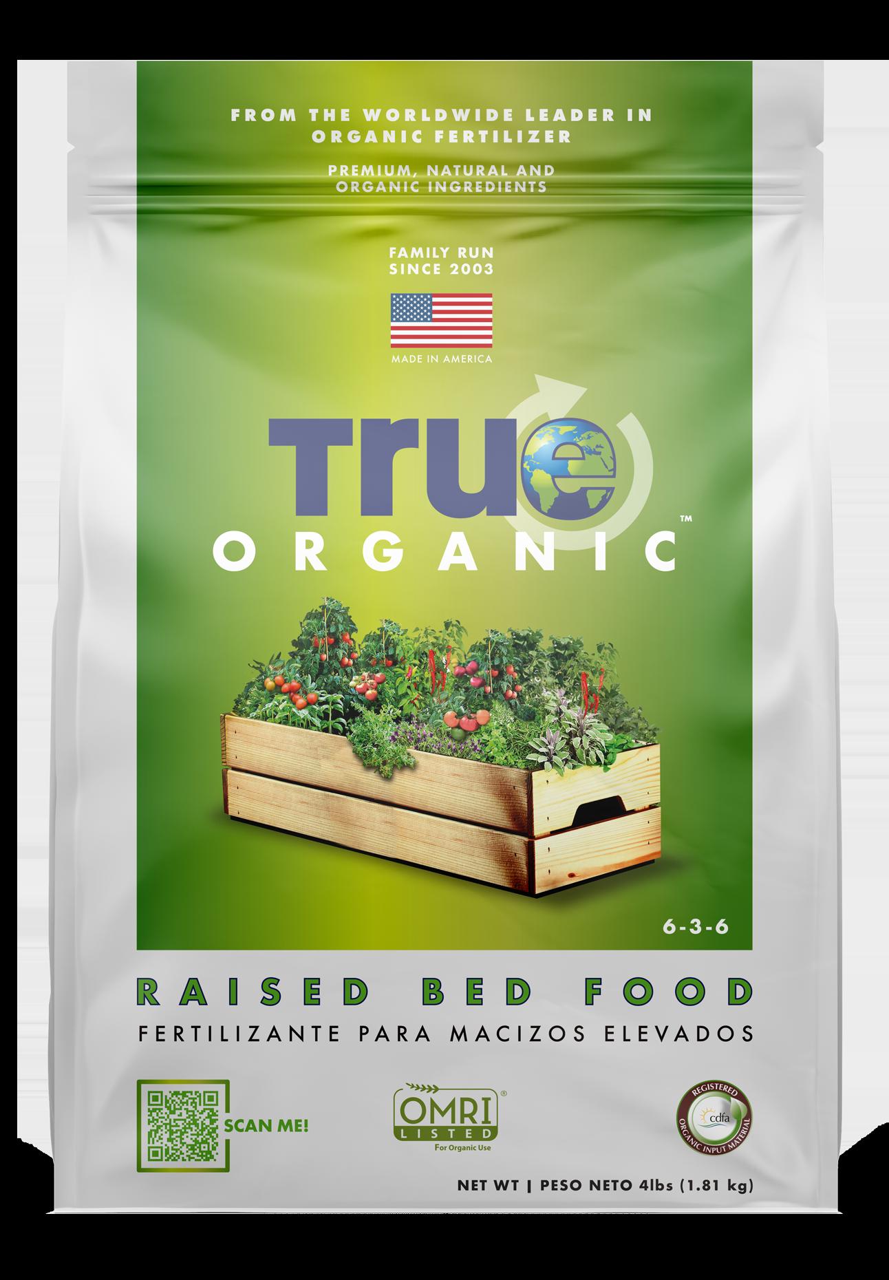 Bag Of True Organic Raised Bed Food