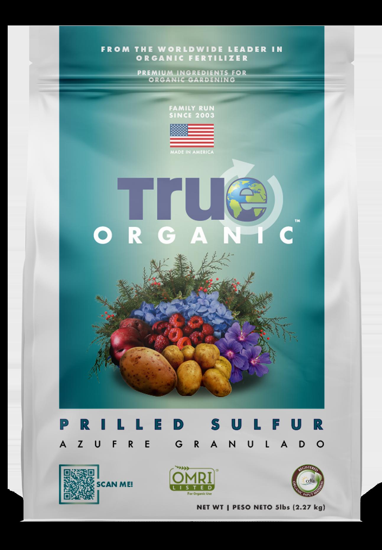 Bag Of True Organic Prilled Sulfur
