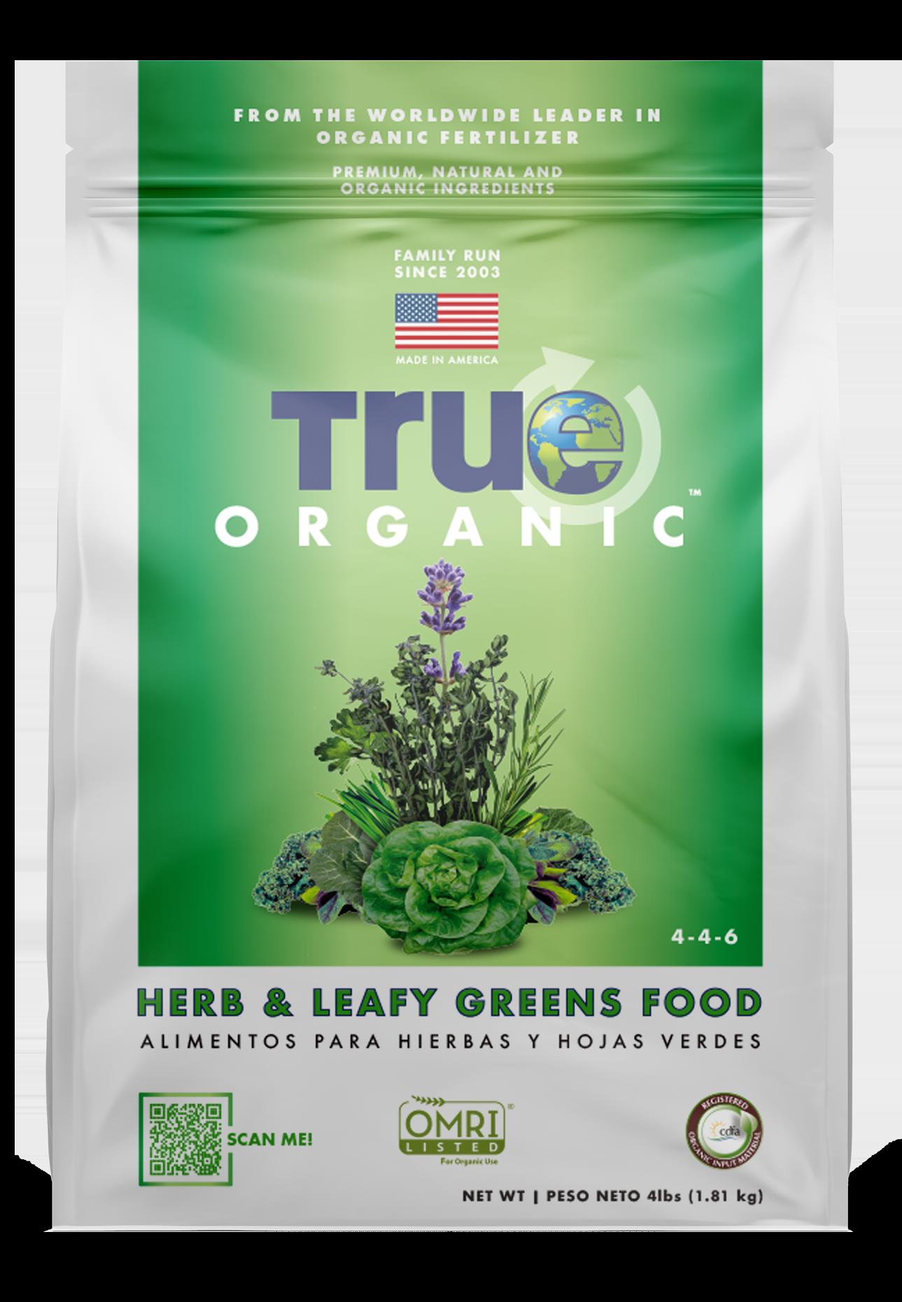 Bag Of True Organic Herb & Leafy Greens Food