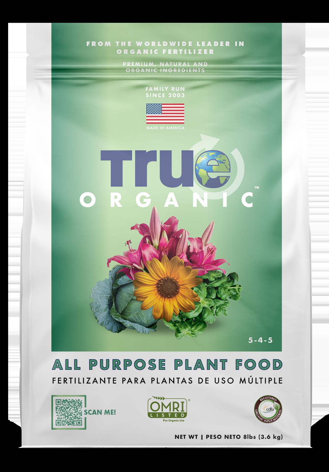 Bag Of True Organic All Purpose Plant Food