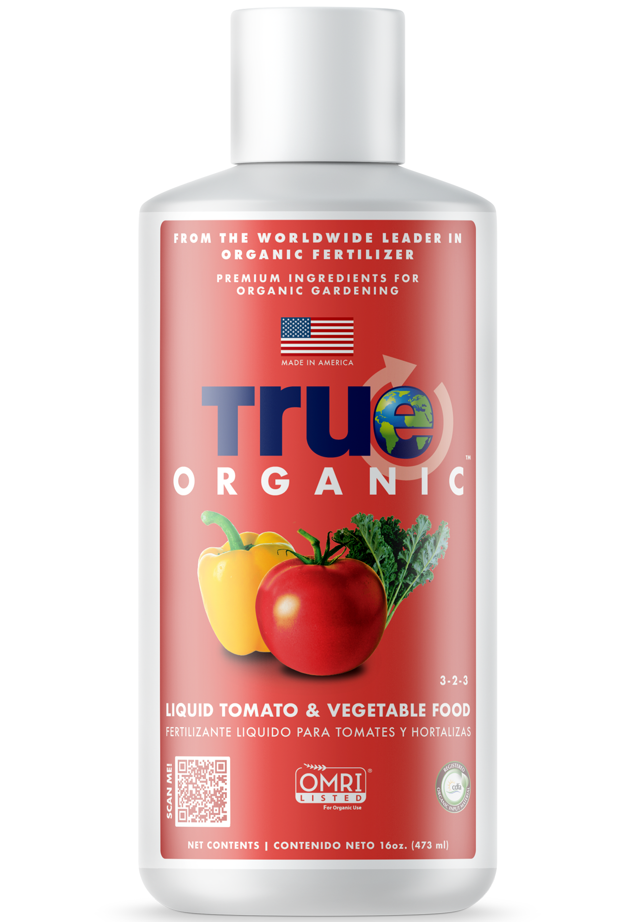Bottle Of True Organic Liquid Tomato & Vegetable Food
