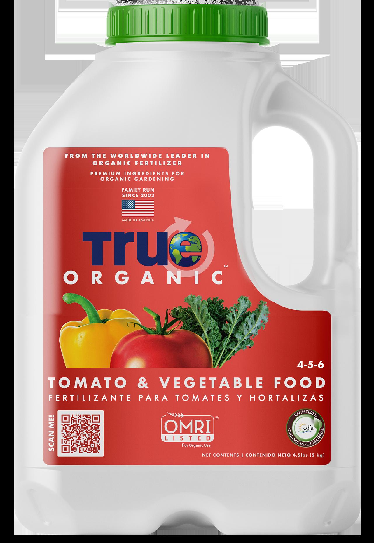 Jug Of True Organic Tomato & Vegetable Food