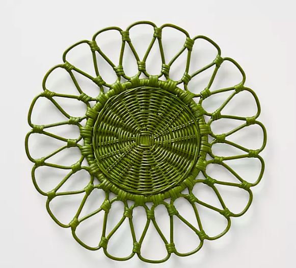 Rattan Placemats Easter table