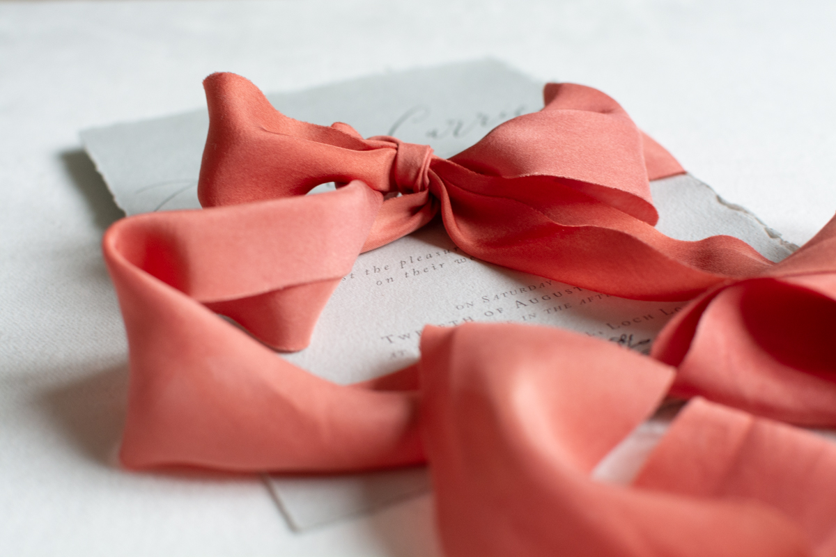 Natually-dyed ribbon silk Kate Cullen