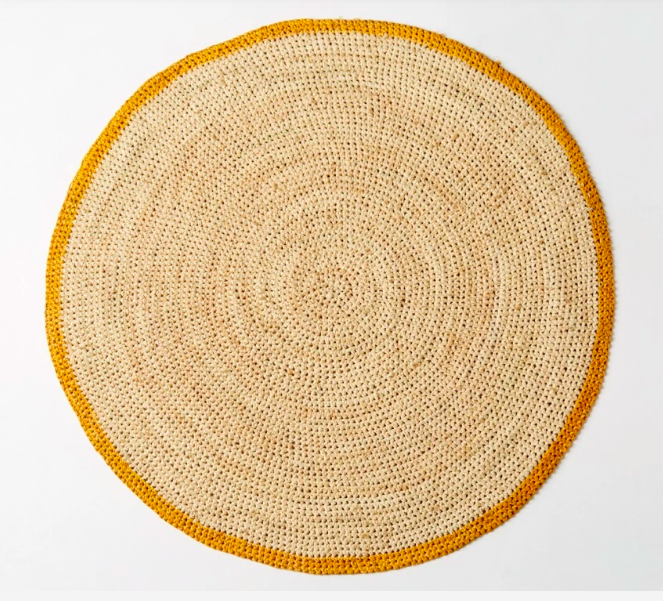 conran shop yellow jute placemat