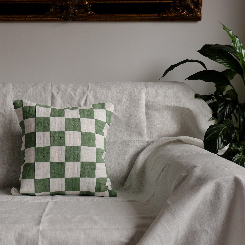 Studio Eldorado - Green Chequered Cushion
