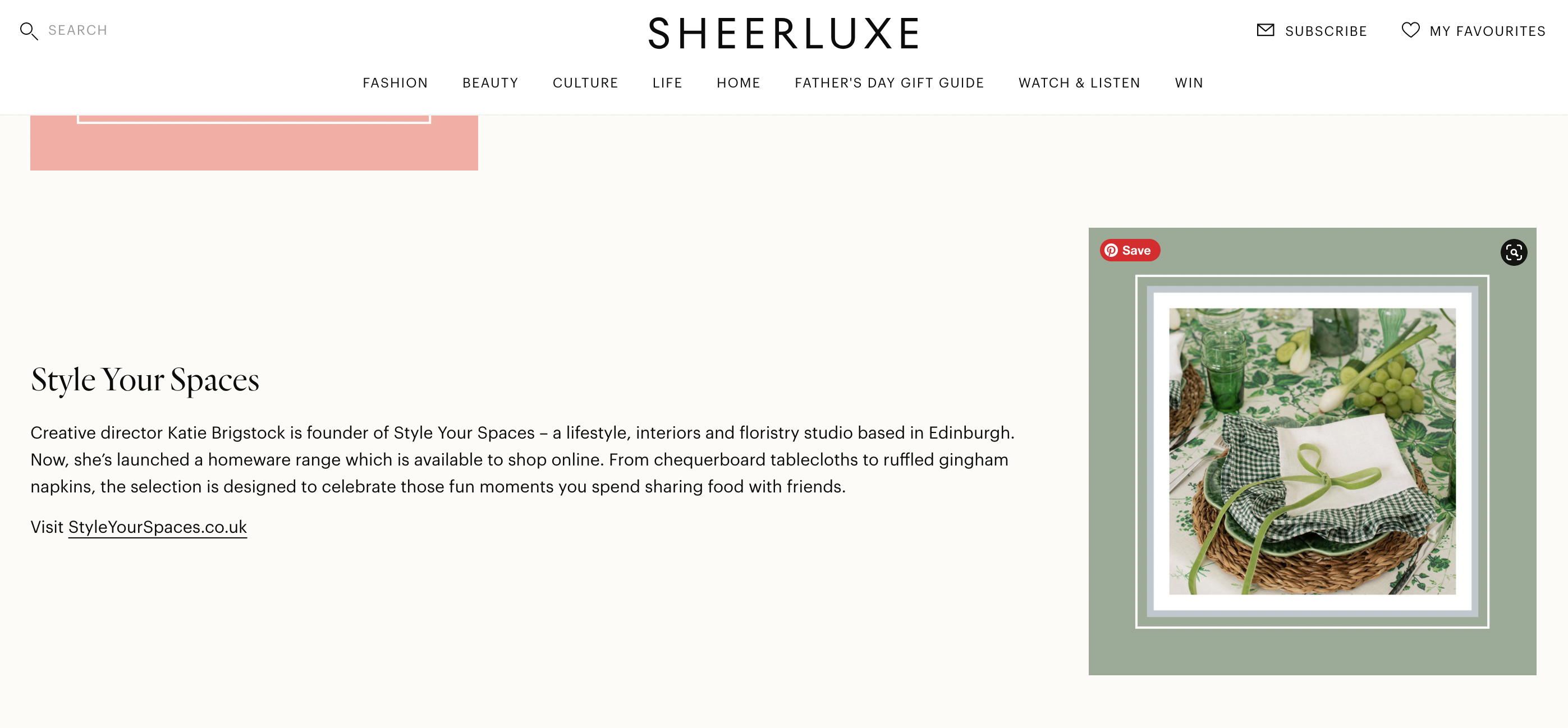 SHEERLUXE - 'What's New In Interiors This Month'