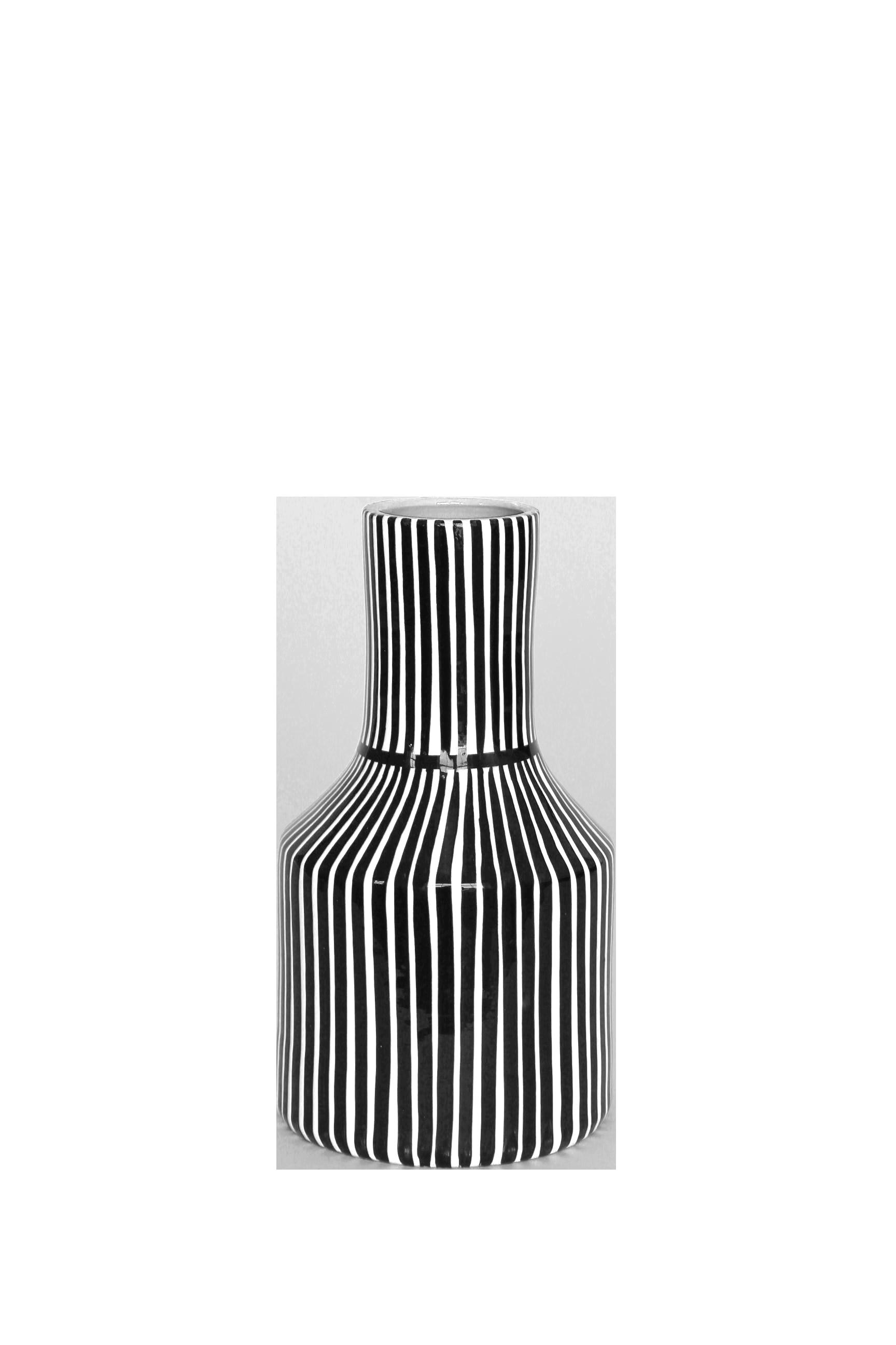 Striped Terracotta Bud Vase - Handmade in Portugal