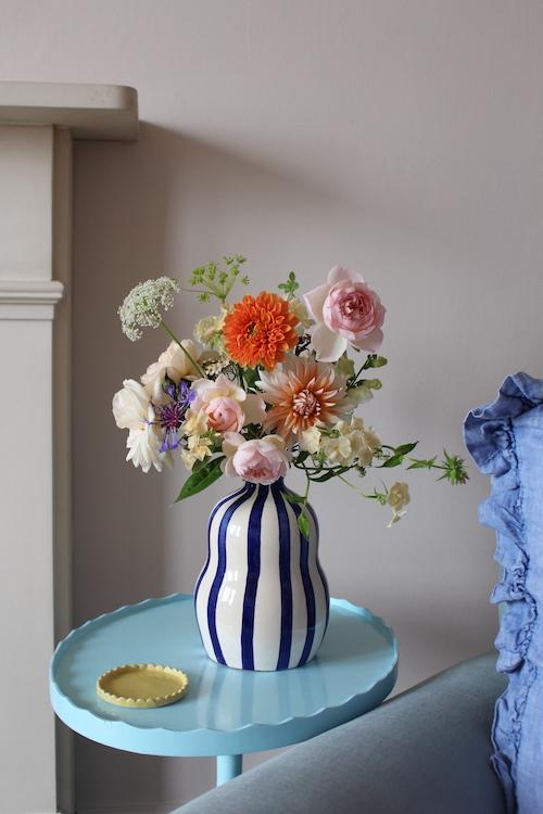 Blue Gourd Vase - Handmade in Portugal