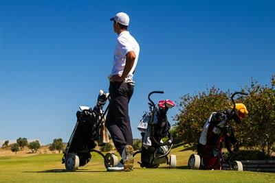 Golfer on Algarve Golf Course