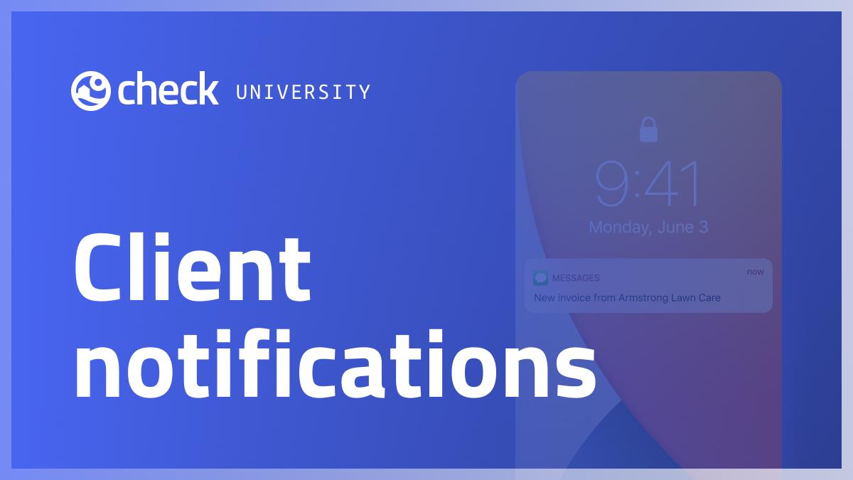Client notifications