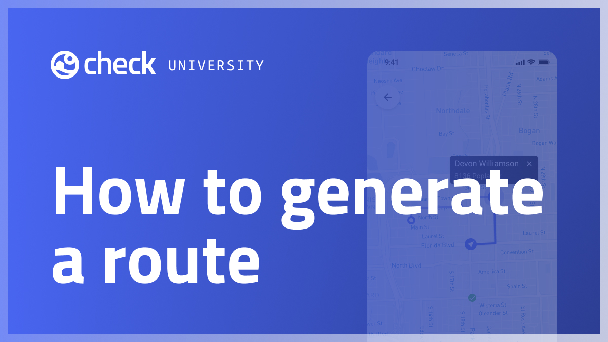 How to generate a route