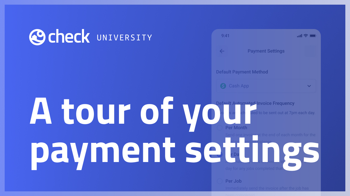 A tour of payment settings