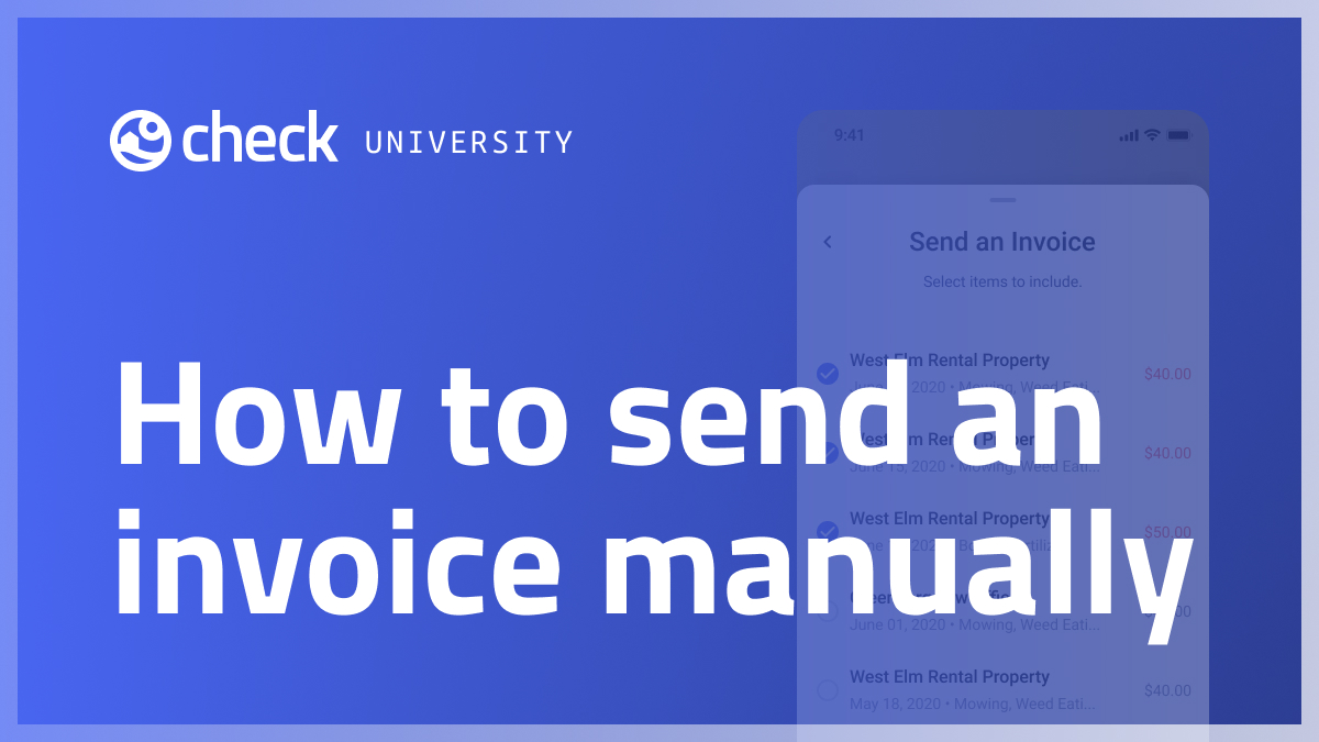 How to send an invoice manually