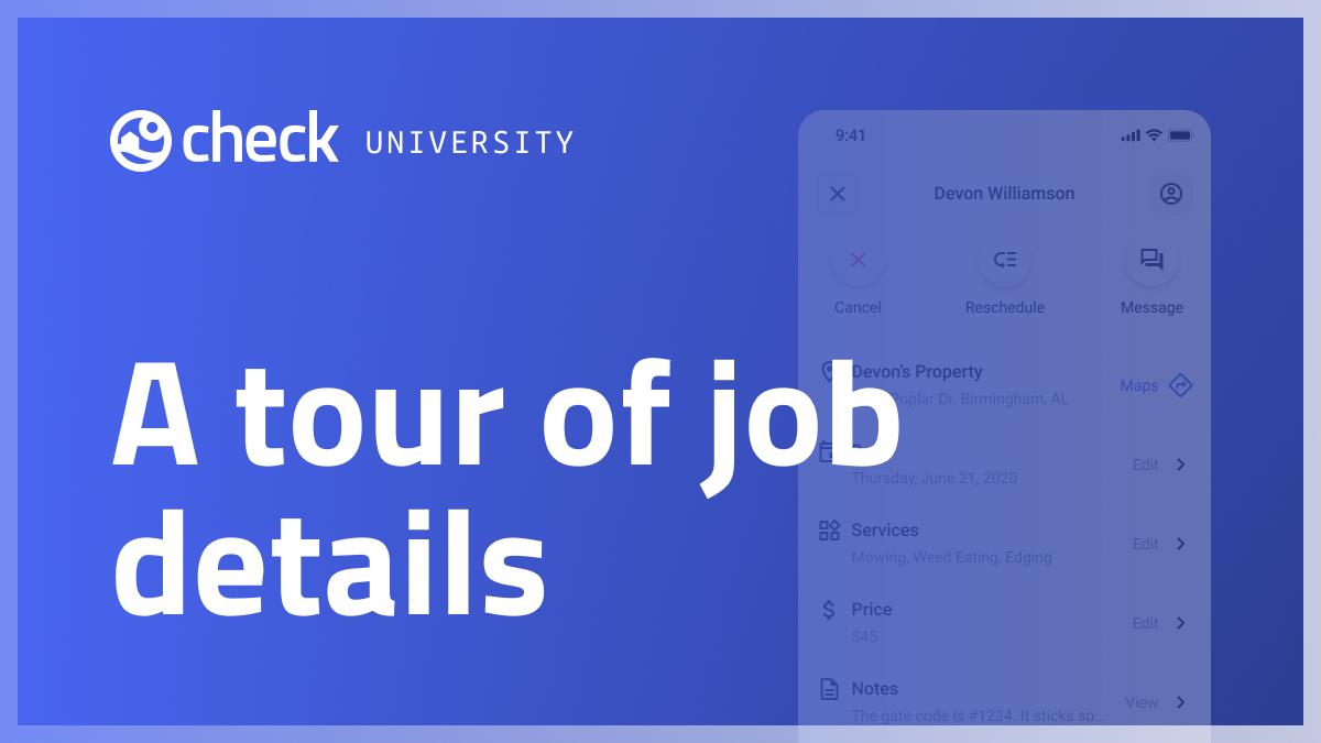 A tour of job details