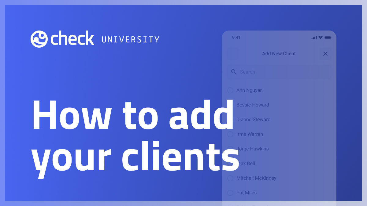 How to add your clients