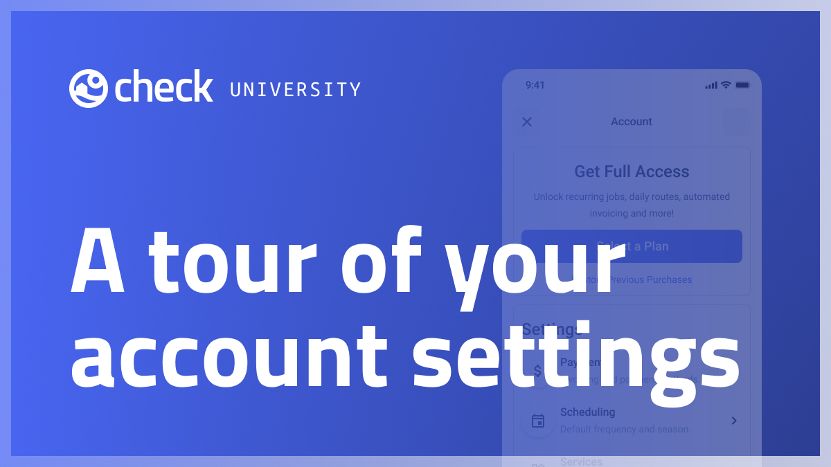 A tour of your account settings