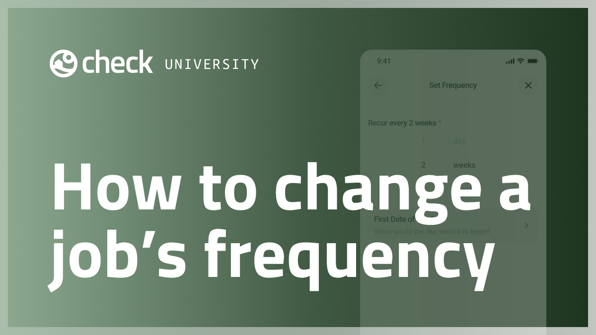 How to change a recurring job's frequency