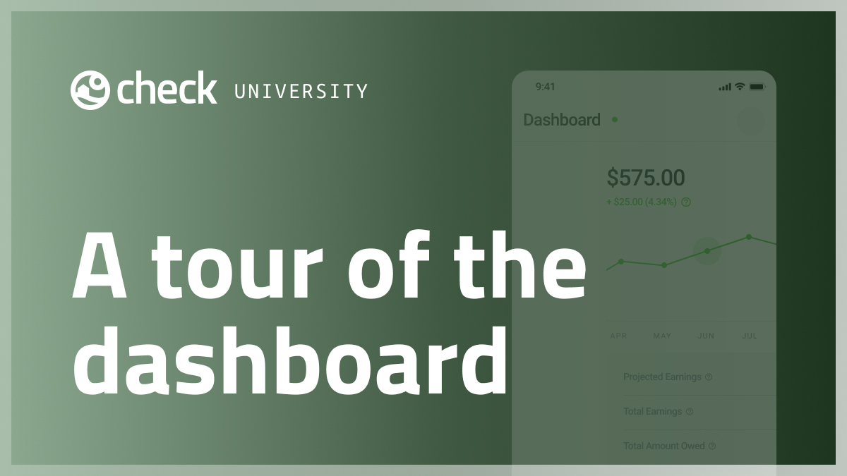 A tour of the dashboard