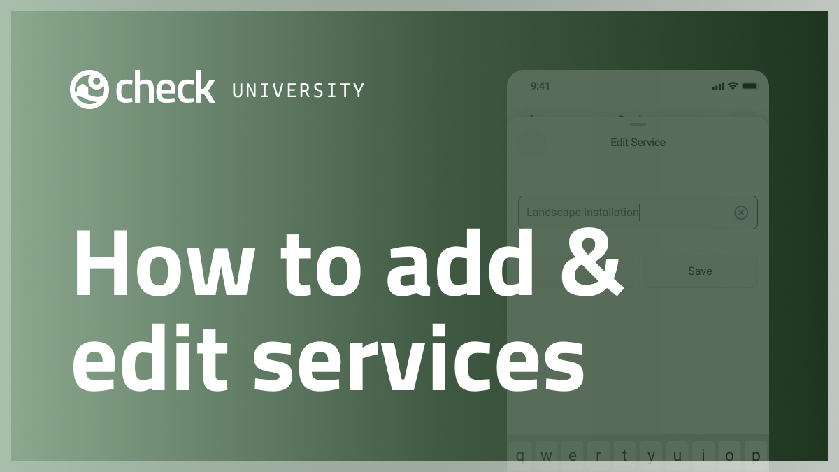 How to add and edit your services