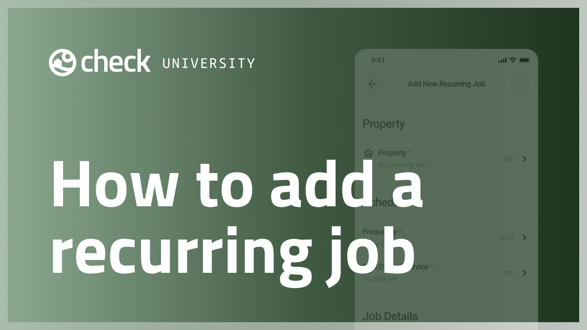 How to add a recurring job