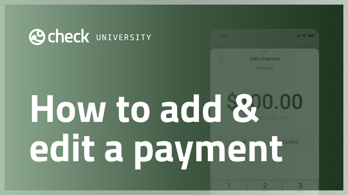 How to add and edit a payment
