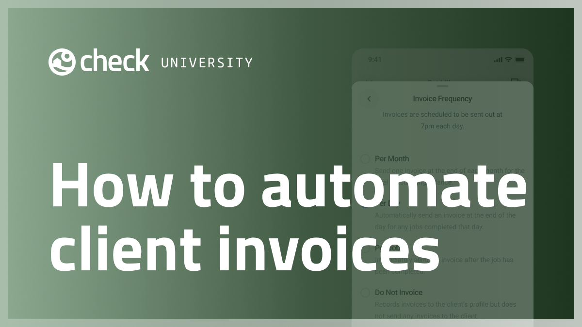 How to automate client invoices