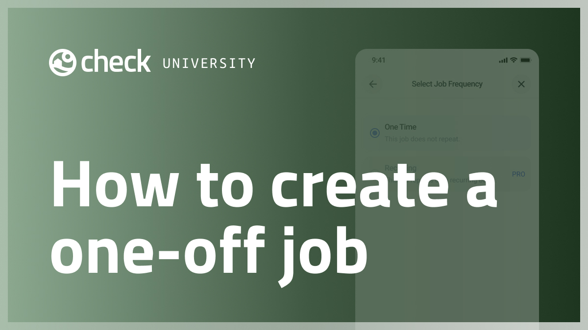 How to create a one-off job