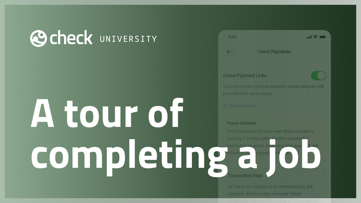 A tour of completing a job