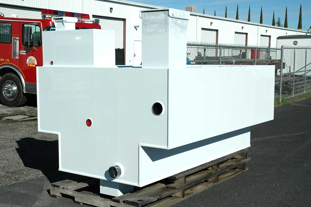 QTAC Fire Family Expansion building Copolymer Tanks and Truck Bodies for Fire Service Industry