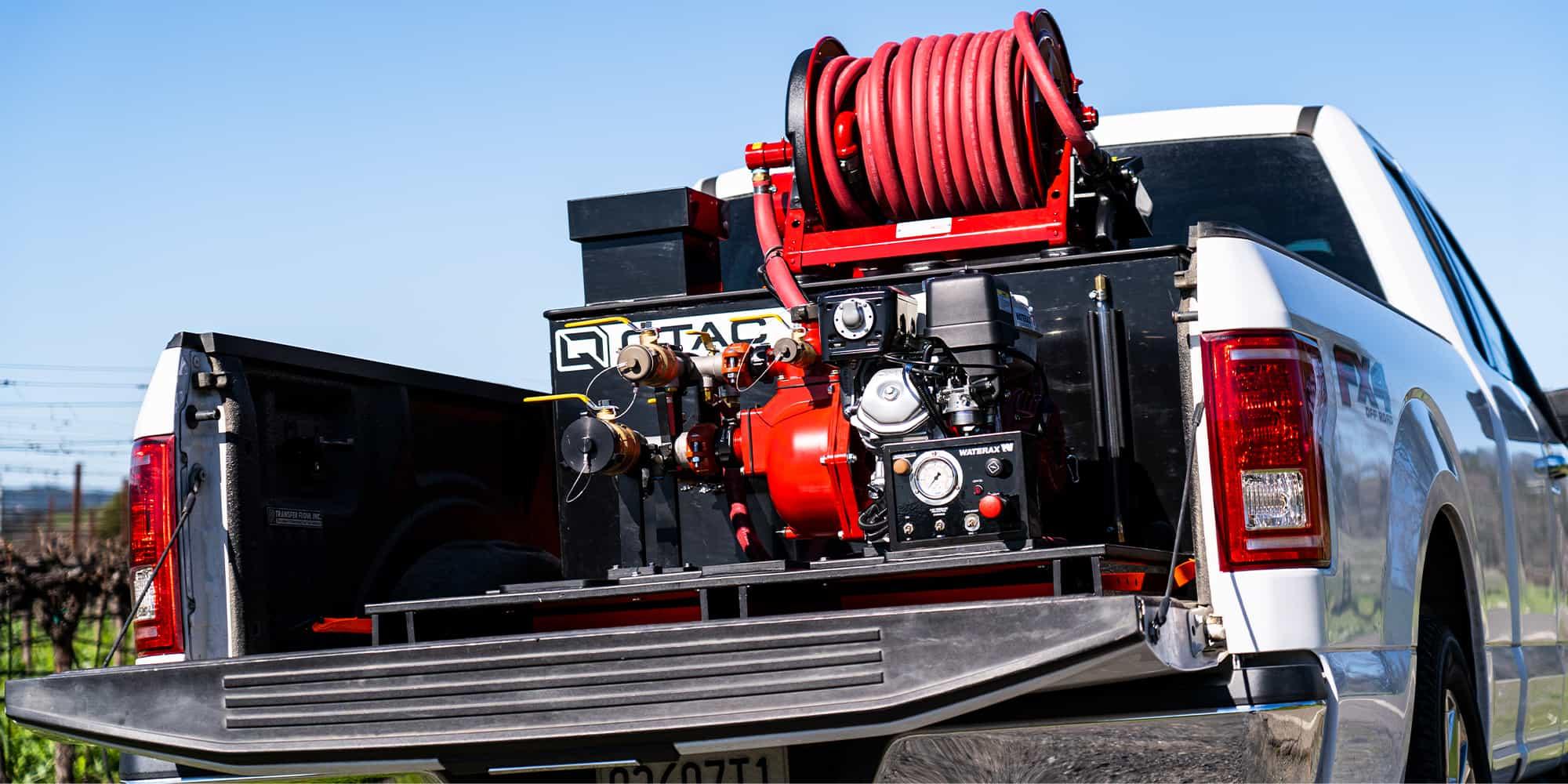 QTAC Tsunami Pro Series Truck Skid Unit at Winery