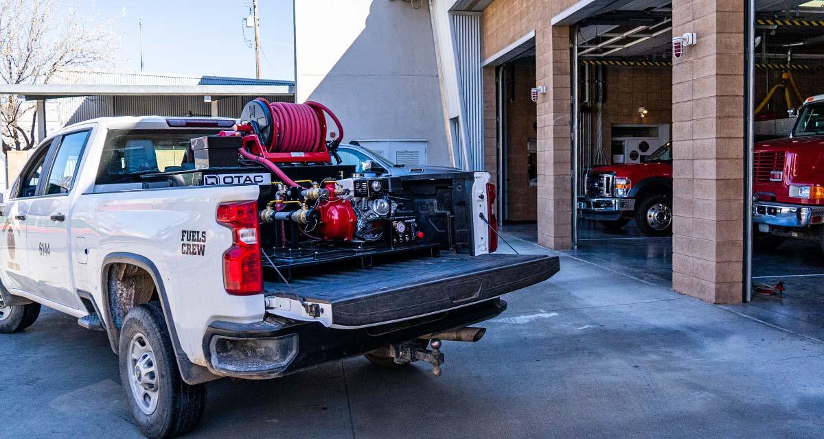 QTAC Tsunami Pro Series Truck Skids at Fire Station