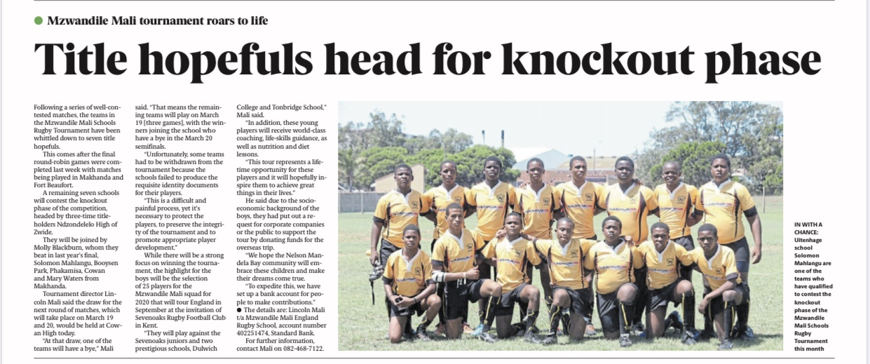 Article, The Herald newspaper 4 March 2020, Title hopefuls head for knockout phase