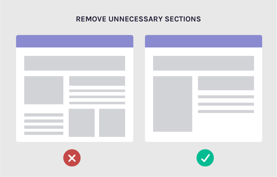 remove unnecessary section to increase conversions