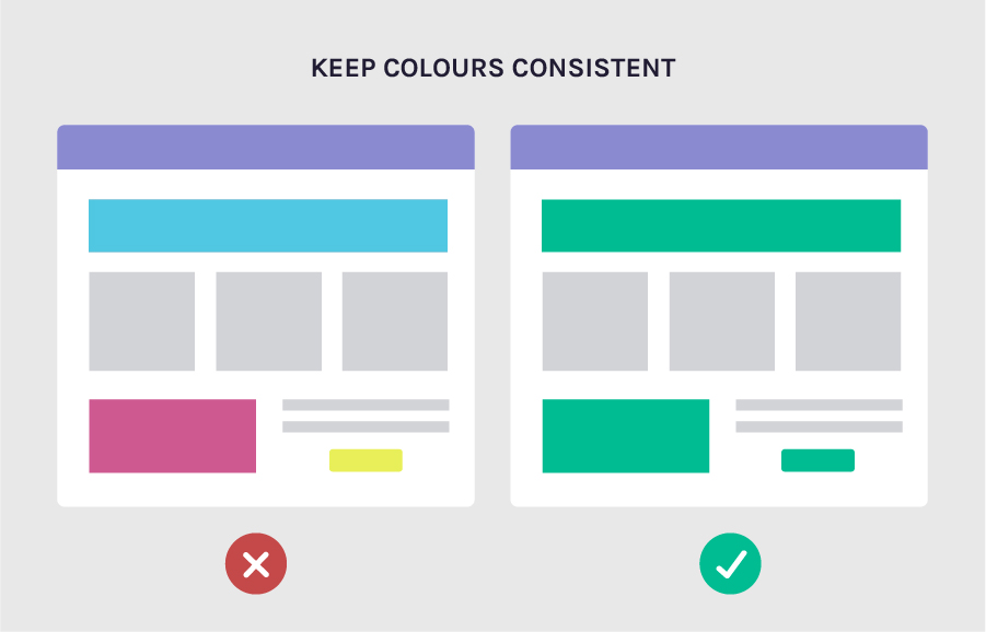 Increase conversion rates by keeping your colours consistent