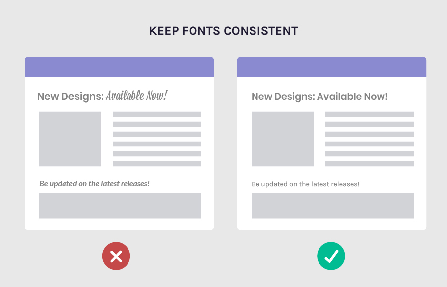 Increase conversion rates by keeping your fonts consistent