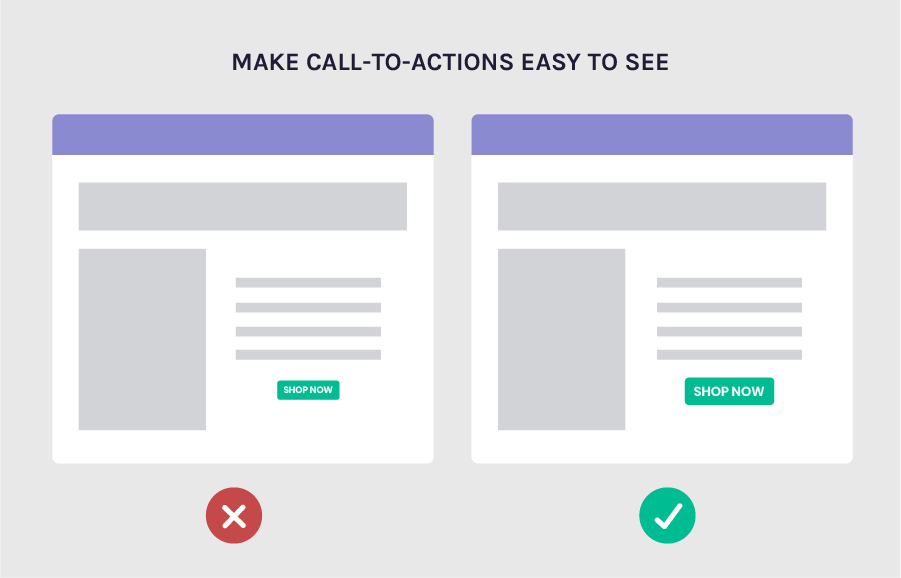 Increase conversions by making your CTAs easy to see