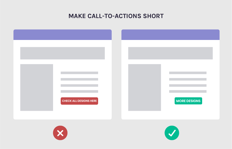 Increase conversions by making your CTAs short
